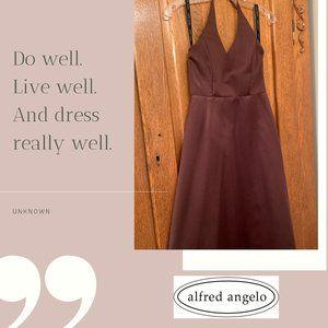 Alfred Angelo Halter Top Floor Length Formal Dress